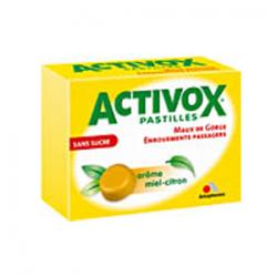 ACTIVOX MIEL/CITRON PASTILLES